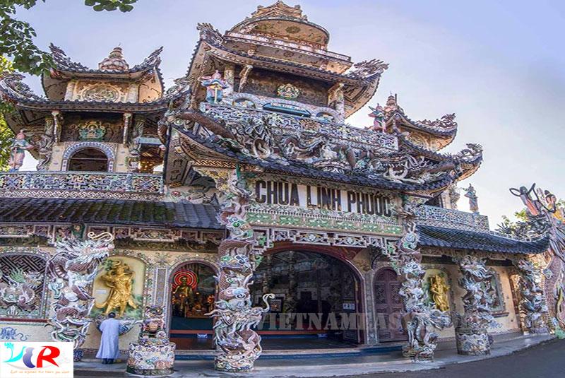 Linh Phuoc pagoda (Dragon pagoda/Bottle Pagoda) in Da Lat, Vietnam