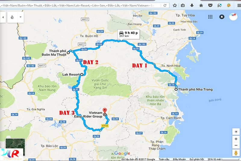 easy-rider-tour-from-nha-trang-to-central-highland-to-da-lat-in-3-days-maps