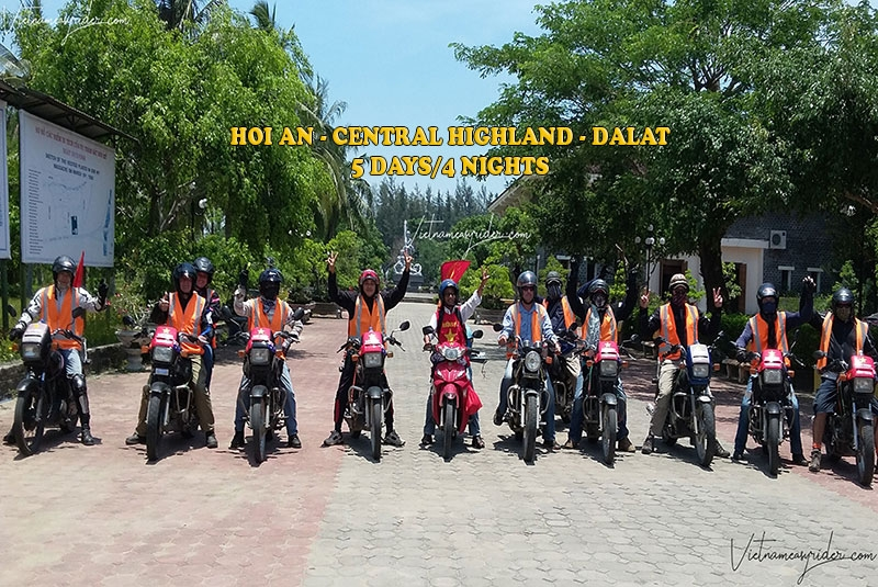 Hoian/danang Motorcycle adventure tour to Central Highland to Da Lat in 5 days