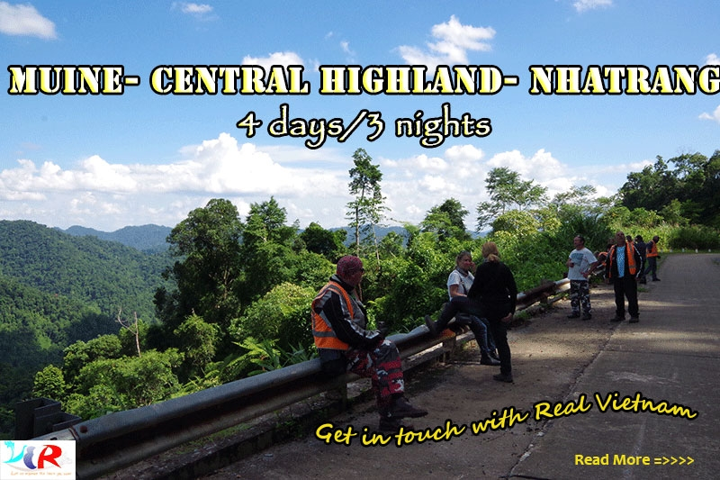 Muine Motorcycle Touring to Central Highland to Nha Trang in 4 days