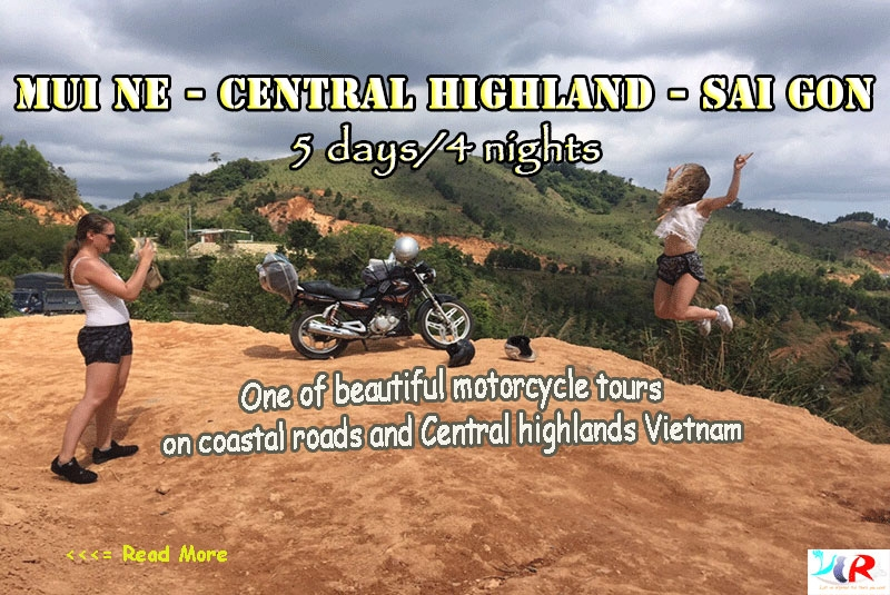 Muine Motorbike Adventure Trip to Central Highland to Sai Gon in 5 days